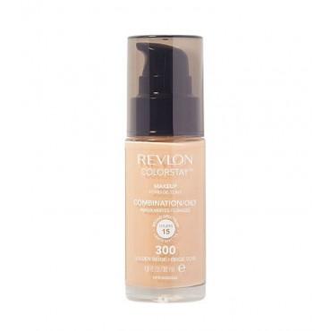 Revlon - Base de Maquillaje fluida ColorStay para piel Mixta/Grasa SPF15 - 300: Golden Beige
