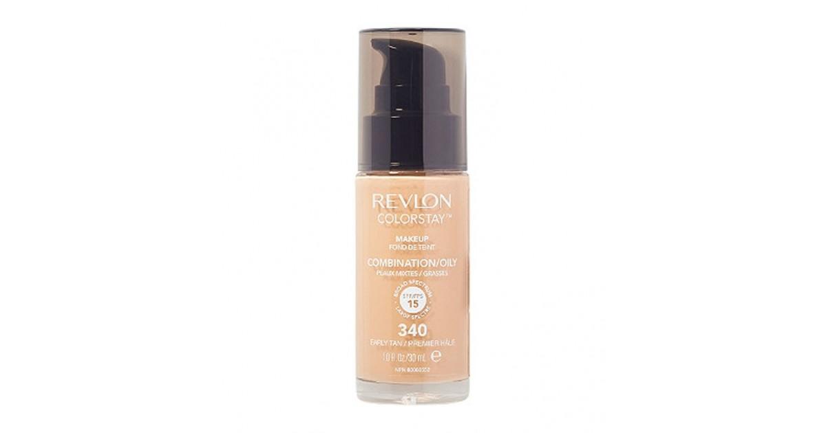 Revlon - Base de Maquillaje fluida ColorStay para piel Mixta/Grasa SPF15 - 340: Early Tan