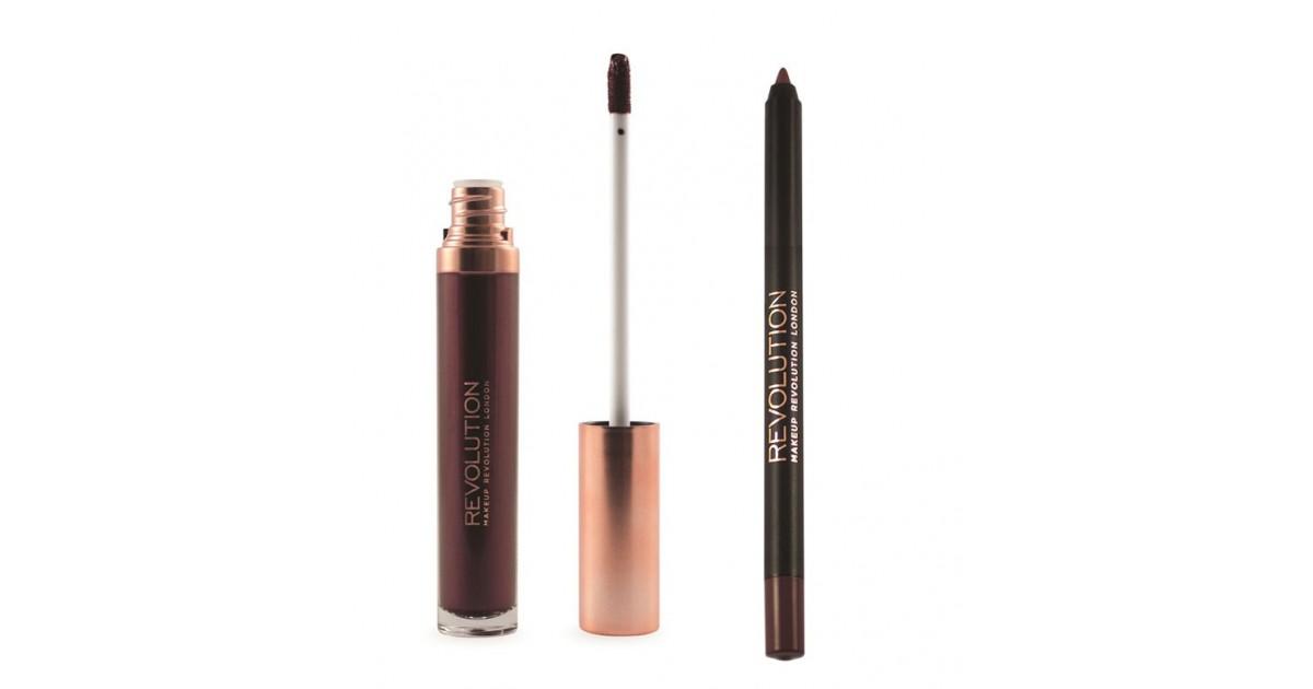 Makeup Revolution - Metallic Lip Kit Retro Luxe - Worth It