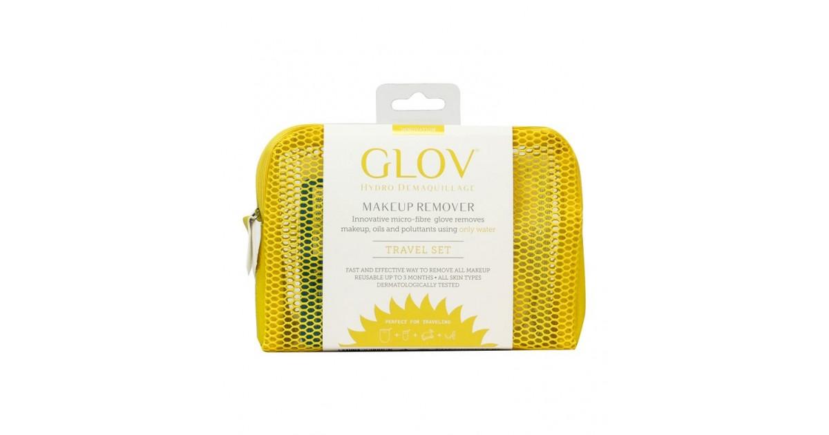 GLOV - Guante desmaquillador Travel Set Innovation - Amarillo