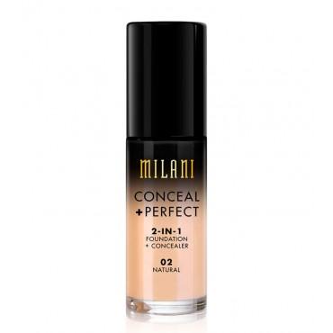 Milani - Base de maquillaje Conceal+Perfect 2-en-1 - 02: Natural