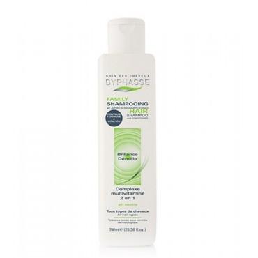 Byphasse - Family Shampoo Todo tipo de cabello Multivitamí'nico 2 en 1 750ml