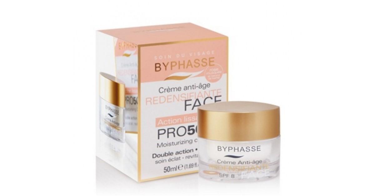 Byphasse - Crema anti edad Redensificante Pro 50 - Rosa Mosqueta y Karite SPF8 - 50ml