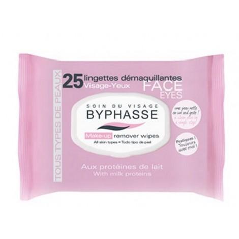 Byphasse - Toallitas desmaquillantes para todo tipo de piel Proteina de Leche x 25