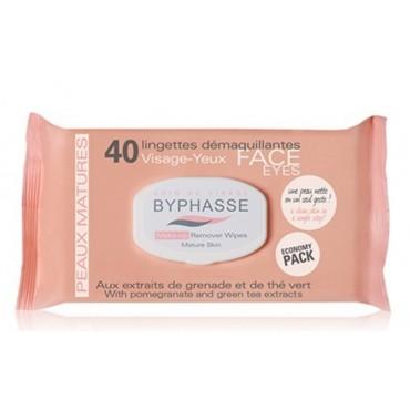Byphasse - Toallitas desmaquillantes Piel madura x 40