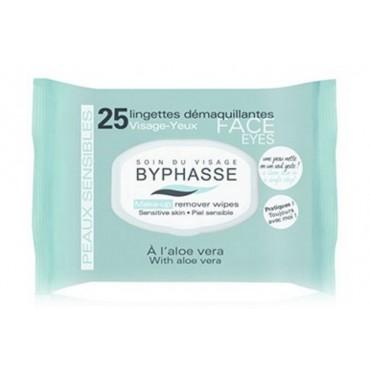Byphasse - Toallitas desmaquillantes Aloe Vera Piel sensible x25