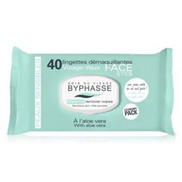 Byphasse - Toallitas desmaquillantes Aloe Vera Piel sensible x40