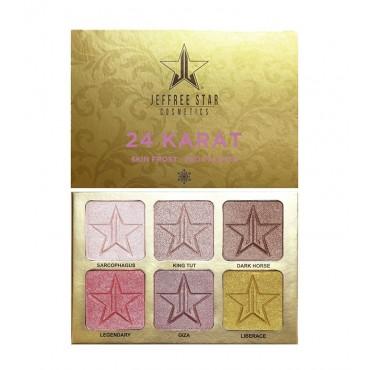 Jeffree Star Cosmetics - *Holiday Glitter Collection* - Paleta de iluminadores 24 Karat Skin Frost Pro