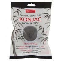Beauty Formulas - Esponja facial Konjac con Carbón de bambú