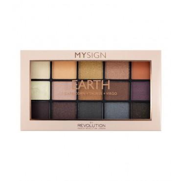 Makeup Revolution - Paleta de sombras de ojos My Sign - Earth