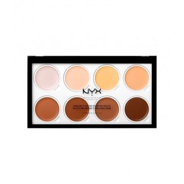 Nyx Professional Makeup - Paleta de iluminador y contorno en crema - HCPP01