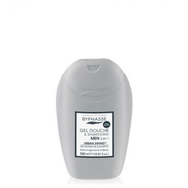 Byphasse - Gel ducha-champú 2 en 1 para hombre Urban Swing 500 ml