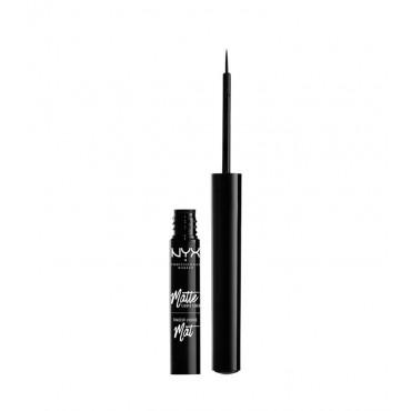 NYX Professional Makeup - Delineador de ojos líquido Mate - MLL01: Black