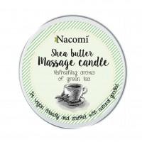 Nacomi - Vela de masaje con manteca de karité. Aroma refrescante de té verde