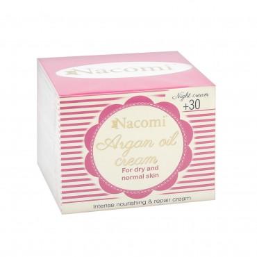Nacomi - Crema facial noche con aceite de Argán y Ácido hialurónico