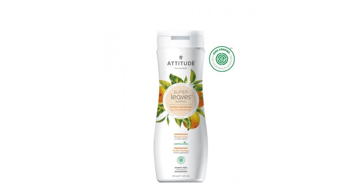 Attitude - Gel de ducha Energizante - Hoja de Naranja