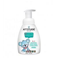 Attitude - Champú, gel y acondicionador 3 en 1 para bebés Little ones - Néctar de pera