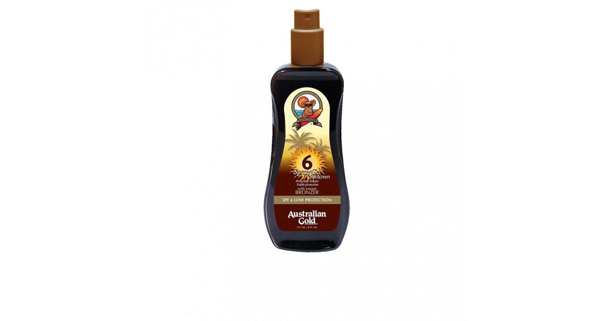 Australian Gold - SUNSCREEN SPF6 - Gel en spray Bronceador instantáneo 237 ml