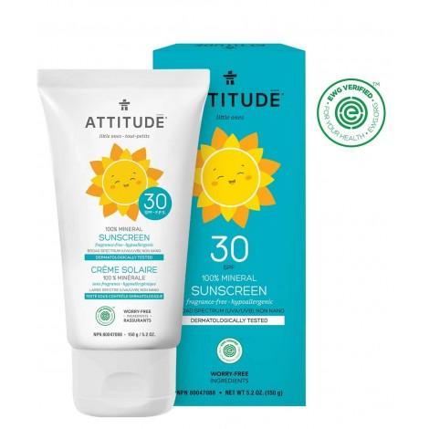 Attitude - Protector solar 100% Mineral - SPF30