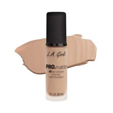 L.A. Girl - Base de Maquillaje Fluida PRO Matte - GLM675: Medium Beige