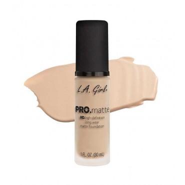 L.A. Girl - Base de Maquillaje Fluida PRO Matte - GLM673: Beige