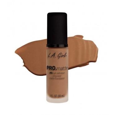 L.A. Girl - Base de Maquillaje Fluida PRO Matte - GLM681: Caramel