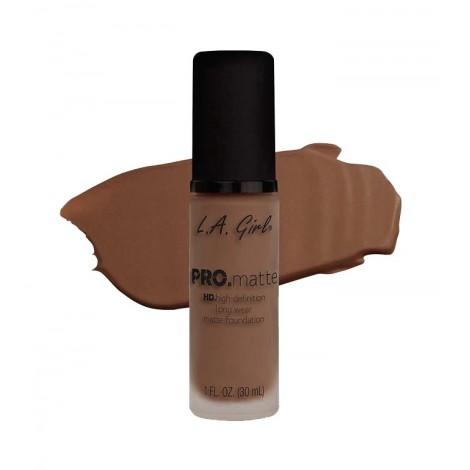 L.A. Girl - Base de Maquillaje Fluida PRO Matte - GLM683: Nutmeg