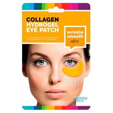 Beauty Face - Parches de colágeno antiarrugas para el contorno de ojos con ORO24K Y ÁCIDO HIALURÓNICO