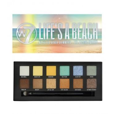 W7 - Paleta de 12 sombras mate y brillantes - Life's a Beach