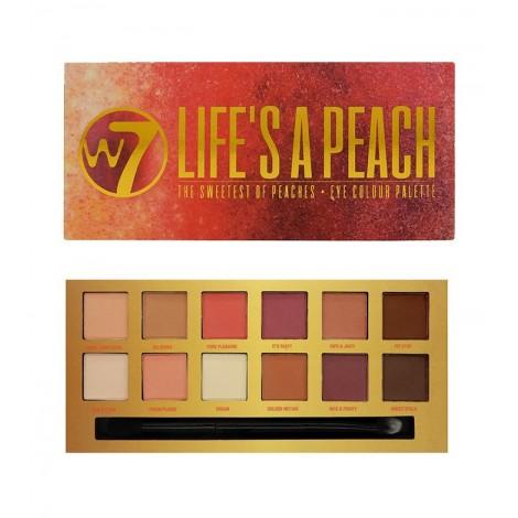 W7 - Paleta de 12 Sombras Mate Life's a Peach