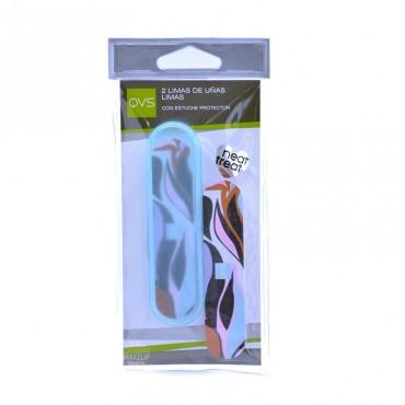 QVS - 2 Limas de Uñas con estuche protector