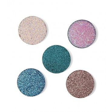 Revolution Pro - Pack de 5 sombras de ojos Glitter en godet magnéticas - Glisten Up