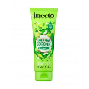 Inecto Naturals - Gel de ducha Infusión de lima, menta y coco