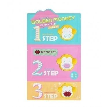 Holika Holika - Kit para Labios en 3 Pasos Golden Monkey Glamour