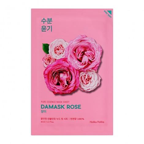 Holika Holika - Mascarilla de papel - Rosa de Damasco - Iluminadora e hidratante