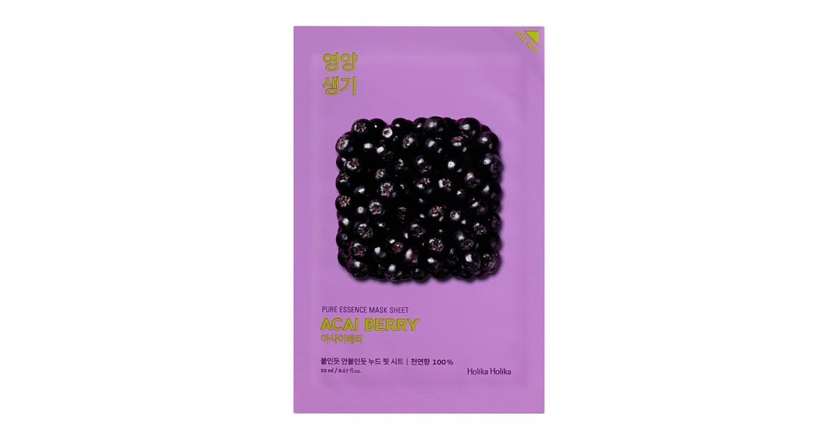 Holika Holika - Mascarilla de papel - Acai Berry - Revitalizante