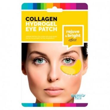 Beauty Face - Parches de colágeno iluminadores y antienvejecimiento para el contorno de ojos con DIAMANTE Y ORO