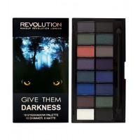 Makeup Revolution - *Halloween 2018* - Paleta de sombras de ojos Give Them Darkness