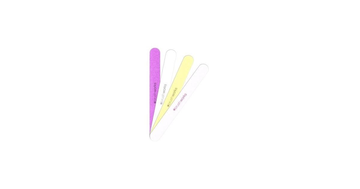 Brushworks - Pack de 4 Limas de uñas