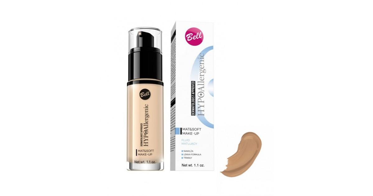 Bell - Base de Maquillaje Matificante Hipoalergénica Mat & Soft - 05: Olive Beige