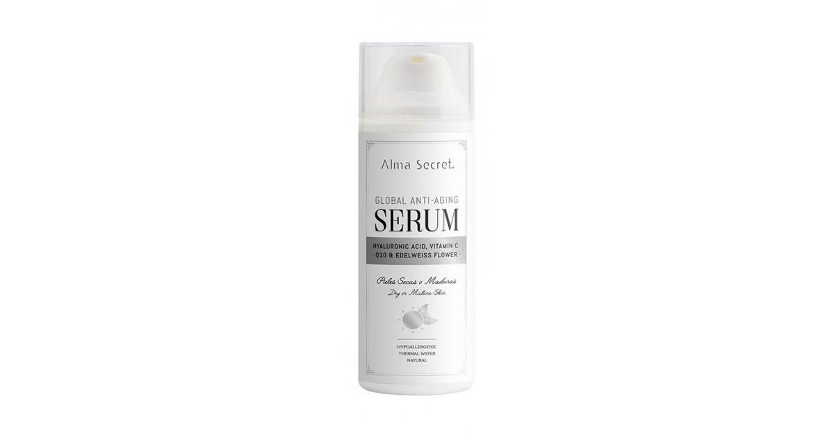 Alma Secret - Sérum Antiedad Global Q10, Hialurónico, Vitamina C & Flor de Edelweiss
