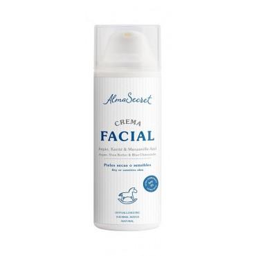 Alma Secret - Crema Facial con Argan, Karité & Manzanilla Azul SPF20