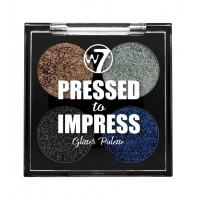 W7 - Paleta de Glitter Pressed to Impress - In Vogue