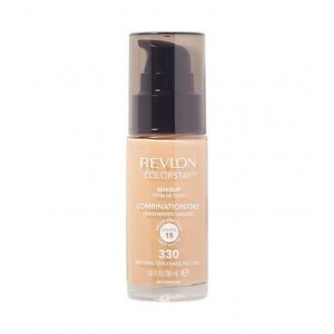 Revlon - Base de Maquillaje fluida ColorStay para piel Mixta/Grasa - 330: Natural Tan