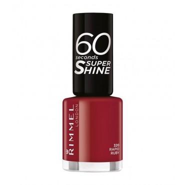 Rimmel London - Esmalte de uñas 60 seconds Super Shine - 320: Rapid Ruby