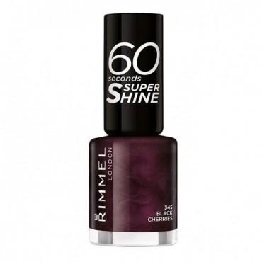 Rimmel London - Esmalte de uñas 60 seconds Super Shine - 345: Black Cherries