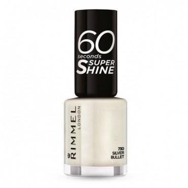 Rimmel London - Esmalte de uñas 60 seconds Super Shine - 730: Silver Bullet
