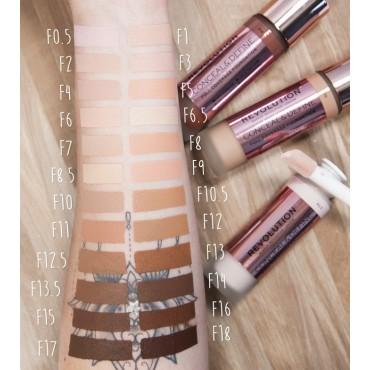 Revolution - Base de maquillaje Conceal & Define - F8.5