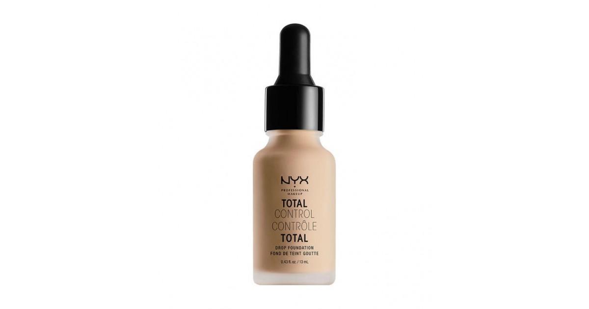 Nyx Professional Makeup - Base de maquillaje fluida Total Control Drop - TCDF07: Natural