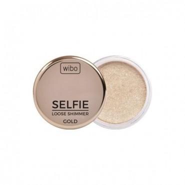 Wibo - Iluminador en polvo Selfie Loose Shimmer - Gold